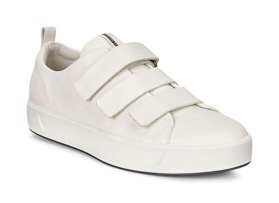 ECCO Wmns Soft 8 Strap Sneaker (WHITE)