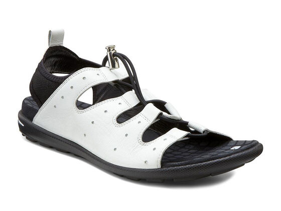 ECCO Jab Toggle Sandal (WHITE/BLACK)