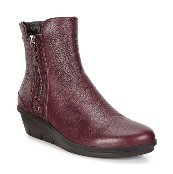 ECCO Skyler Wedge Boot (BORDEAUX)