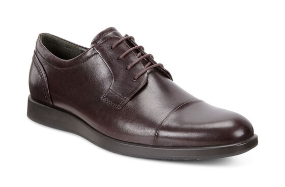 ECCO Jared Cap Toe Tie (FUDGE)