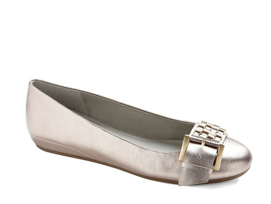 ECCO Owando Buckle Ballerina (LIGHT GOLD)