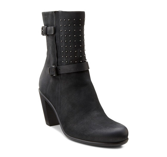 ECCO Touch 75 Mid Cut Boot (BLACK/BLACK)