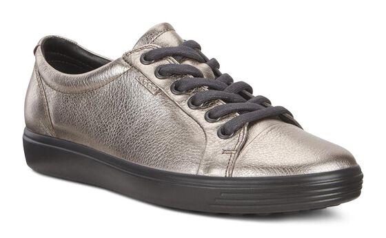 ECCO Womens Soft 7 Sneaker (WARM GREY)