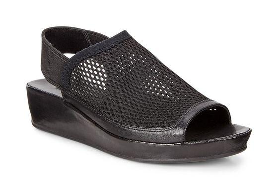 ECCO Tabora 45 Modern Sandal (BLACK/BLACK)