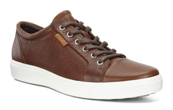 ECCO Mens Soft 7 Sneaker (WHISKY)