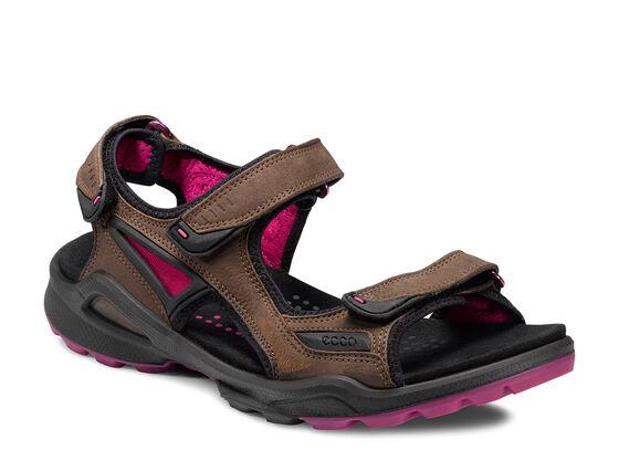 ECCO Womens Chiappo Sandal (ESPRESSO/BEETROOT)