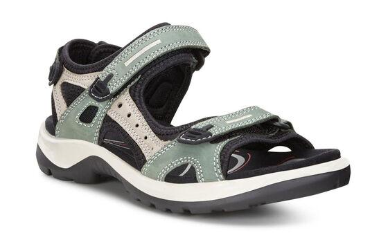 ECCO Womens Yucatan Sandal (FROSTY GREEN/MOON ROCK/FROSTY GREEN)