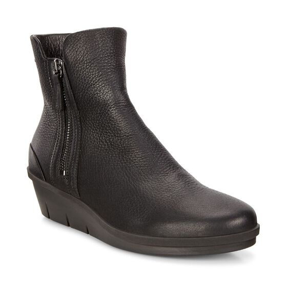 ECCO Skyler Wedge Boot (BLACK)