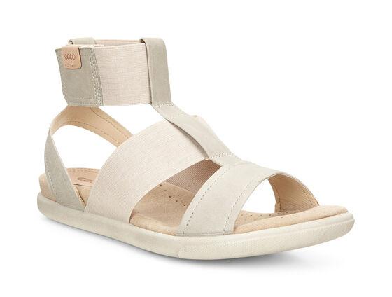 ECCO Damara Ankle Strap Sandal (GRAVEL/POWDER)