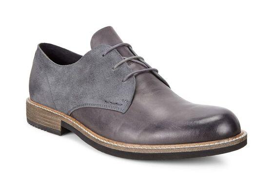 ECCO Kenton Plain Toe Tie (MOONLESS/MOONLESS)