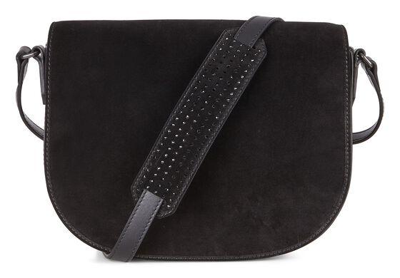 ECCO Joliet Medium Saddle Bag (BLACK)