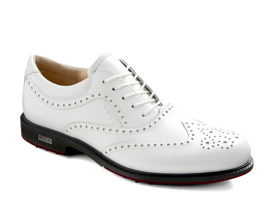 ECCO Mens Tour Hybrid Wingtip (WHITE/BRICK)