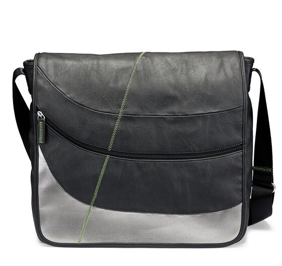 ECCO Perf. Work Messenger Bag (BLACK/MEADOW GREEN)