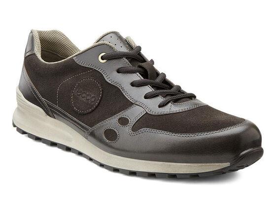 ECCO Mens CS14 Casual Sneaker (DARK CLAY/LICORICE)
