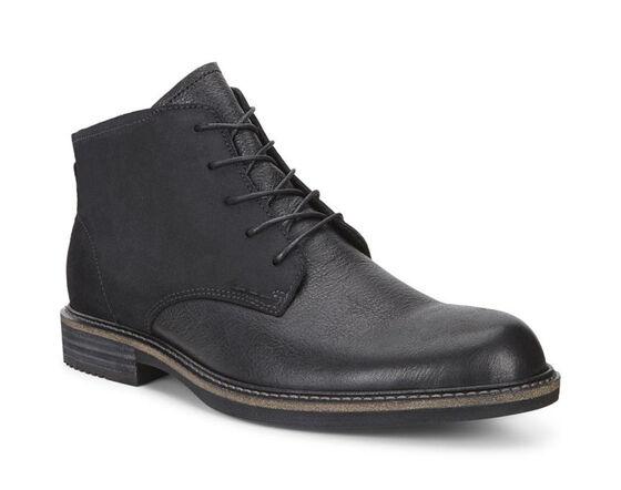 ECCO Kenton Plain Toe Boot (BLACK/BLACK)