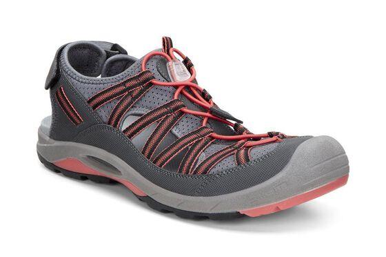 ECCO Womens BIOM Delta Sandal (PETROL/GRANITE GREEN)