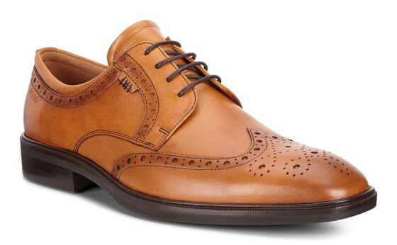 ECCO Illinois Wing Tip Tie (AMBER)