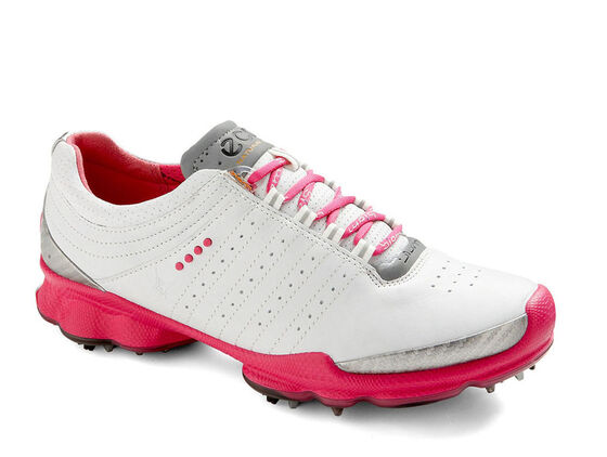ECCO Womens BIOM Golf (WHITE/BEETROOT)