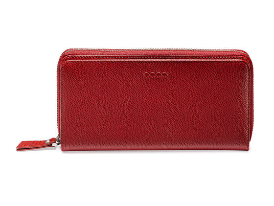 ECCO Belaga Large Zip Wallet (CHILI RED)