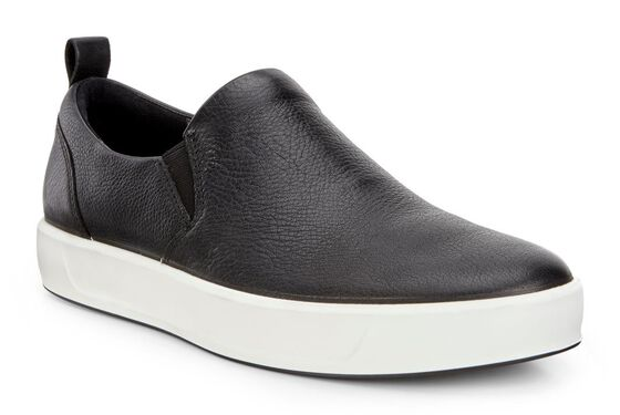 ECCO Mens Soft 8 Slip On (BLACK)