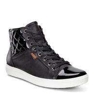 ECCO Soft 7 Quilted High Top (BLACK/BLACK/POWDER)