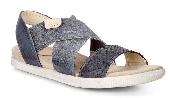 ECCO Damara 2 Strap Sandal (BLACK/BLACK/POWDER)