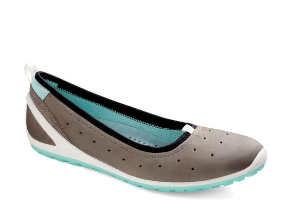 ECCO Womens BIOM Lite 1.2 Flat (WARM GREY/EMERALD)