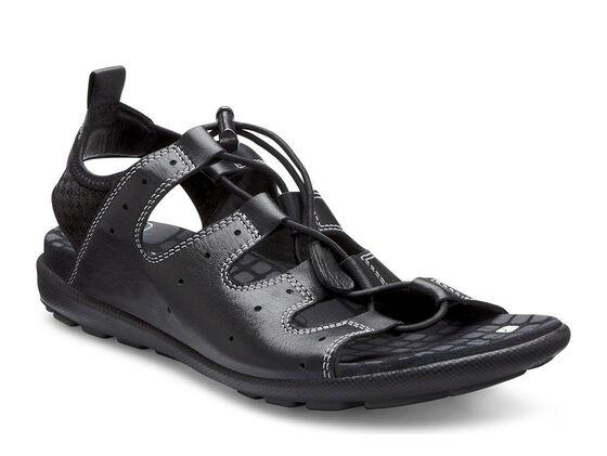 ECCO Jab Toggle Sandal (BLACK/BLACK)