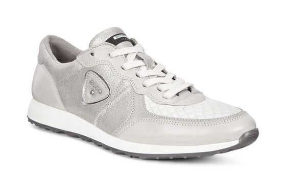 ECCO Womens Sneak (GRAVEL/GRAVEL/WHITE/GRAVEL)
