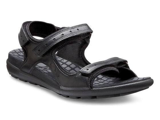 ECCO Jab Strap Sandal (BLACK/BLACK)