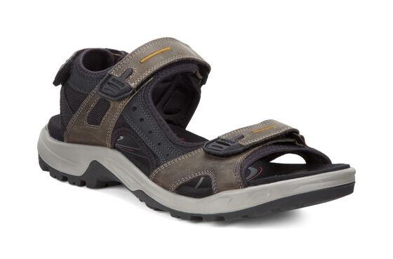 ECCO Mens Yucatan Sandal (TARMAC/BLACK/BLACK)
