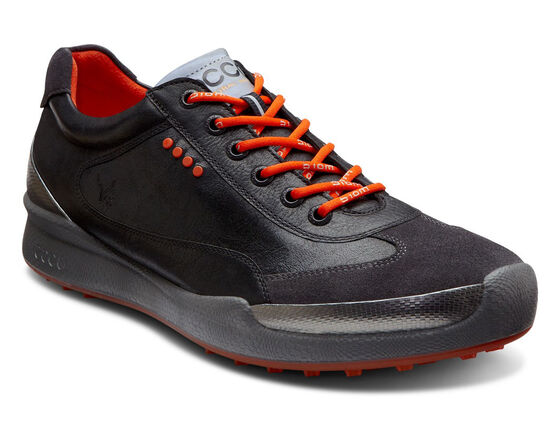 ECCO Mens BIOM Hybrid Lace (BLACK/FIRE)