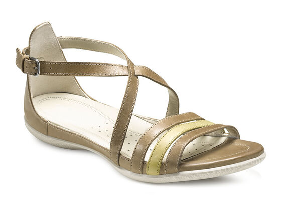 ECCO Flash 3 Strap Sandal (SAND/OLIVE OIL)