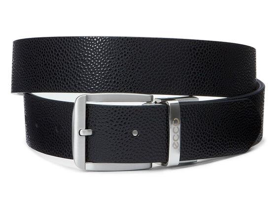 ECCO Dailey Mens Belt (BLACK/WHITE)