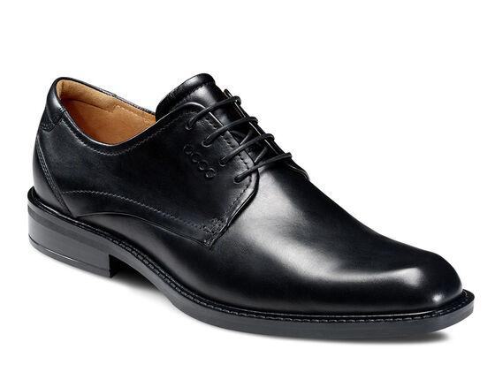 ECCO Windsor Plain Toe Tie (BLACK)