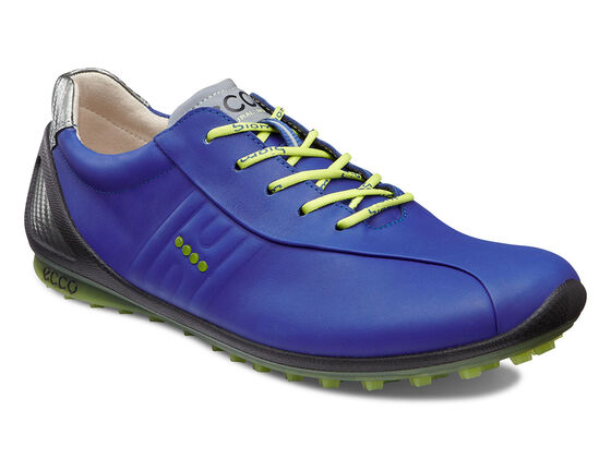 ECCO Mens BIOM Zero Golf (MAZARINE BLUE/LIME PUNCH)