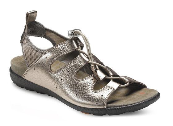 ECCO Jab Toggle Sandal (WARM GREY METALLIC/WARM GREY)
