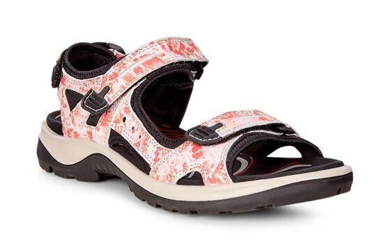 ECCO Womens Yucatan Sandal (CORAL BLUSH)