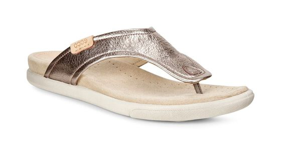 ECCO Damara Thong Sandal (WARM GREY)