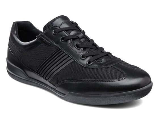 ECCO Enrico Textile Sneaker (BLACK/BLACK)