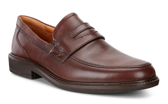 ECCO Holton Penny Loafer (RUST)
