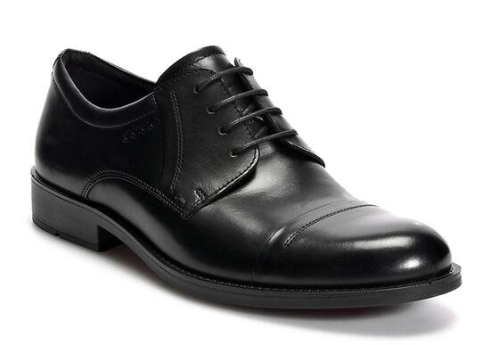 ECCO Birmingham Cap Toe Tie (BLACK)