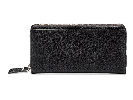 ECCO Belaga Large Zip Wallet (BLACK)