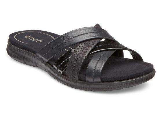 ECCO Babett Sandal Slide (BLACK/BLACK)