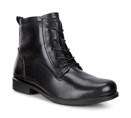 ECCO Touch 25 Lace Boot (BLACK)