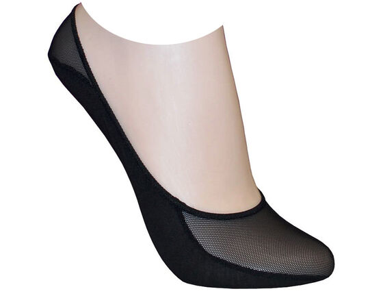 ECCO Womens Low Cut Peds S/M (BLACK)