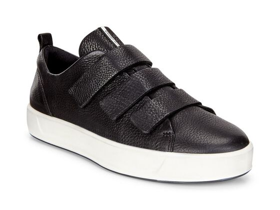 ECCO Wmns Soft 8 Strap Sneaker (BLACK)