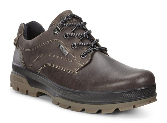 ECCO Mens Rugged Track GTX Tie (DARK CLAY/COFFEE)
