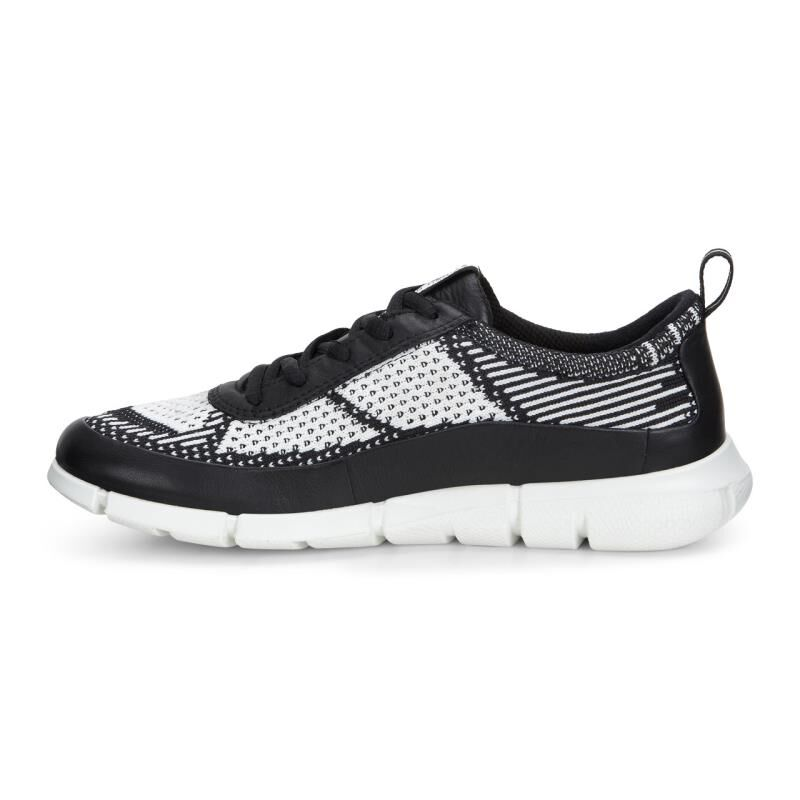 ... ECCO Womens Intrinsic KnitECCO Womens Intrinsic Knit BLACK/WHITE  (50669) ...