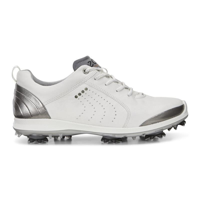 ECCO Women Biom G2 Golf Shoes White/Buffed Silver